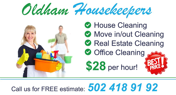 House cleaning services prices&rates by oldhamhousekeepers.com